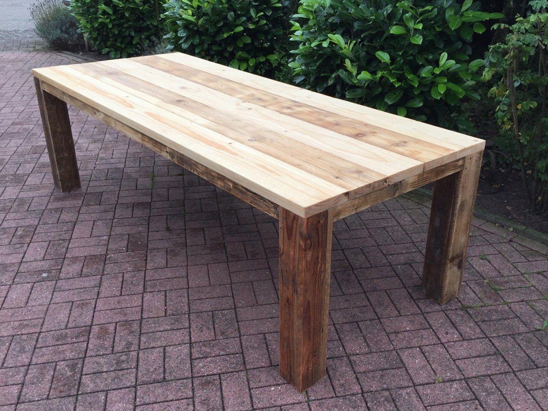 Gartentisch Aus Gebrauchtem Bauholz Geölt  Haus  Pinterest von Bauholz Möbel Selber Machen Photo