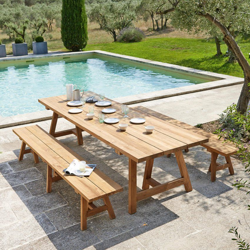 Gartentisch Aus Recyceltem Teakholz 1214 Personen L300  Maisons von Gartentisch Für 12 Personen Bild