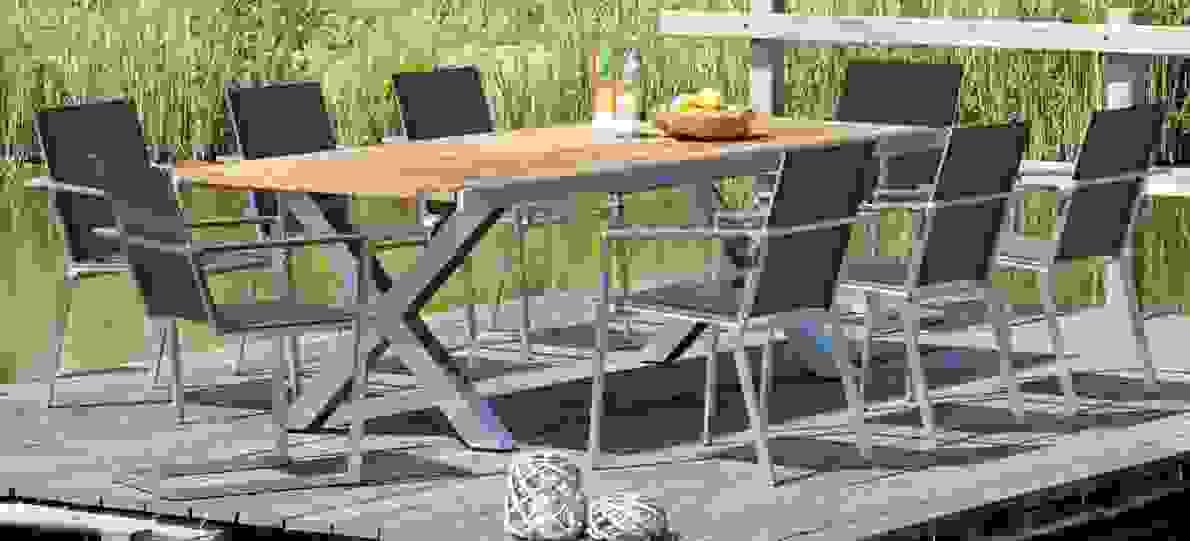 Gartentisch Edelstahl Mit Keramikplatte  Tisch von Gartentisch Für 12 Personen Photo