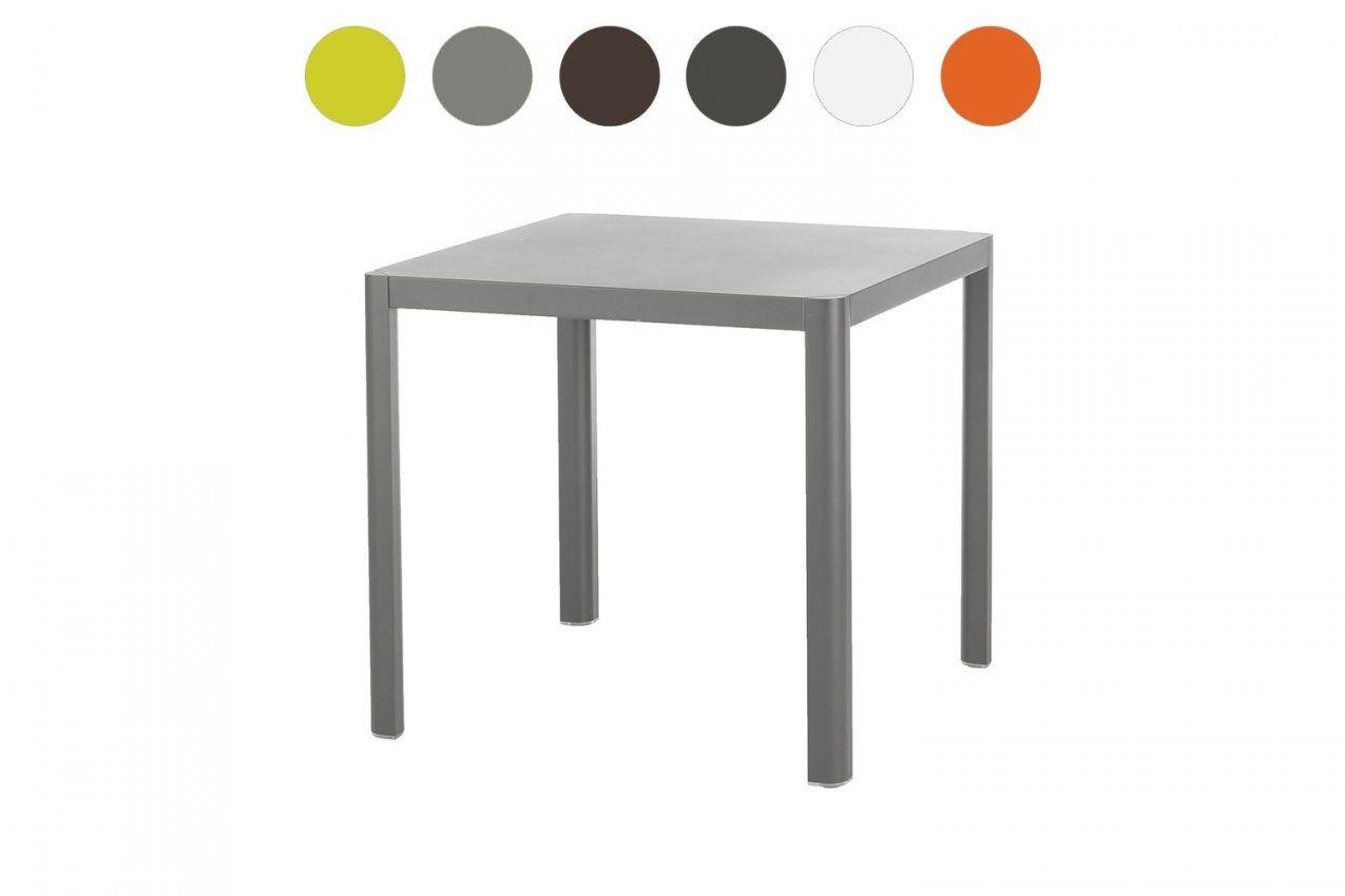 Gartentisch Kingston 80 X 80 Cm Aluminium 6 Farben Wählbar von Balkontisch 80 X 60 Photo