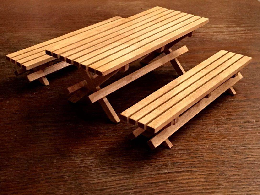 Gartentisch Mit 2 Bänken Holz Monica's Puppenstubenparadies von Gartentisch Mit 2 Bänken Photo