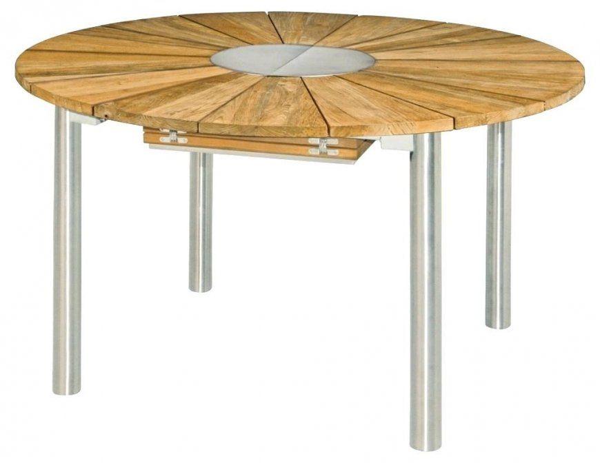Gartentisch Rund 120 Cm Runder Teak 120Cm Bild 0 Werzalit Metall von Gartentisch Holz Rund 120 Bild