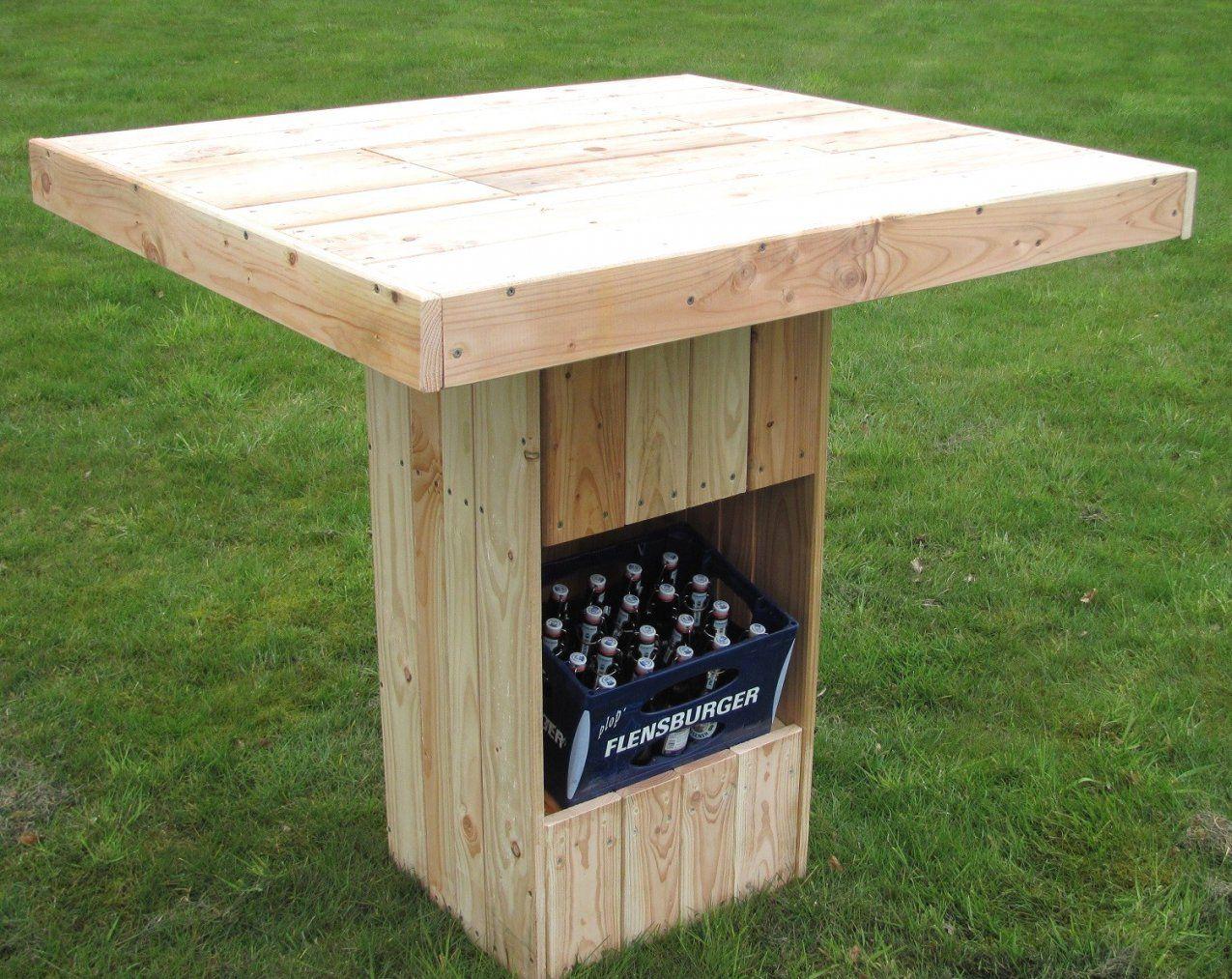 Gartentisch Selber Bauen Rustikal Mit Garten Bar Freshouse 24 Und von Stehtisch Holz Selber Bauen Bild