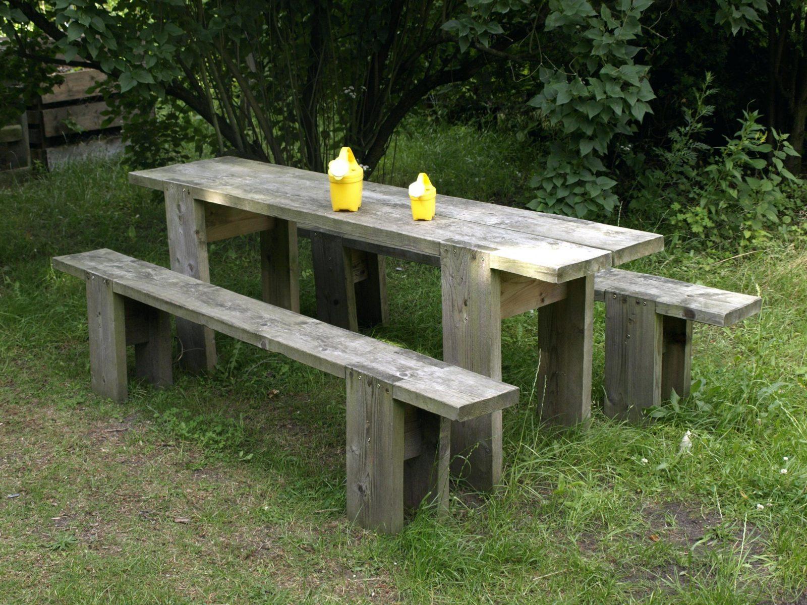 Holztisch Massiv Selber Bauen Tisch Design Mit Von Von Gartentisch