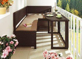 Gartentische Von Bader Und Andere Gartenmöbel Für Garten & Balkon von Balkon Eckbank Mit Tisch Bild