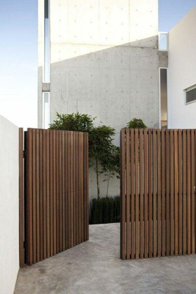 Gartentor Holz  Rustikales Vs Modernes Design  Garten von Gartentor 2 M Hoch Bild