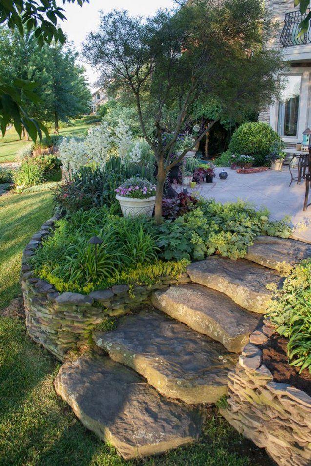 Gartentreppe Selber Bauen  47 Gestaltungsideen Und Tipps von Außentreppen Stein Selber Bauen Bild