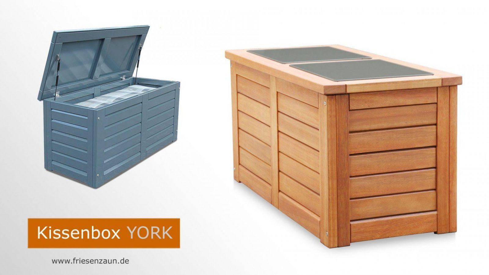 Gartentruhe Für Auflagen + Kissen  Gasdruckfedern von Auflagenbox Holz Selber Bauen Bild