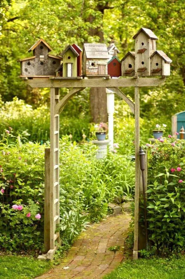 Gartentür Design 20 Kreative Ideen  Gartentüren Vogelhäuser Und von Atemberaubende Ideen Für Den Garten Bild