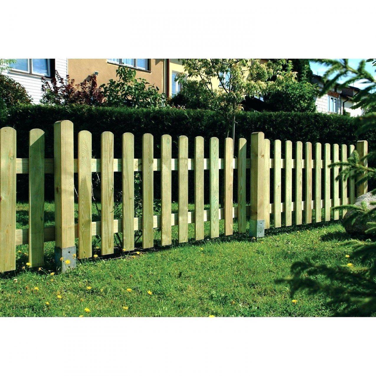 Gartenzaun Selber Machen Selbstbauzaun Fundament Zaun Aus Holz von Gartenzaun Selber Bauen Metall Bild