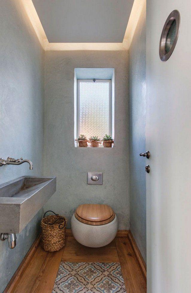 Gäste Wc Mit Deckenbeleuchtung Im Ländlichen Stil Einrichten von Gäste Wc Ideen Bilder Bild