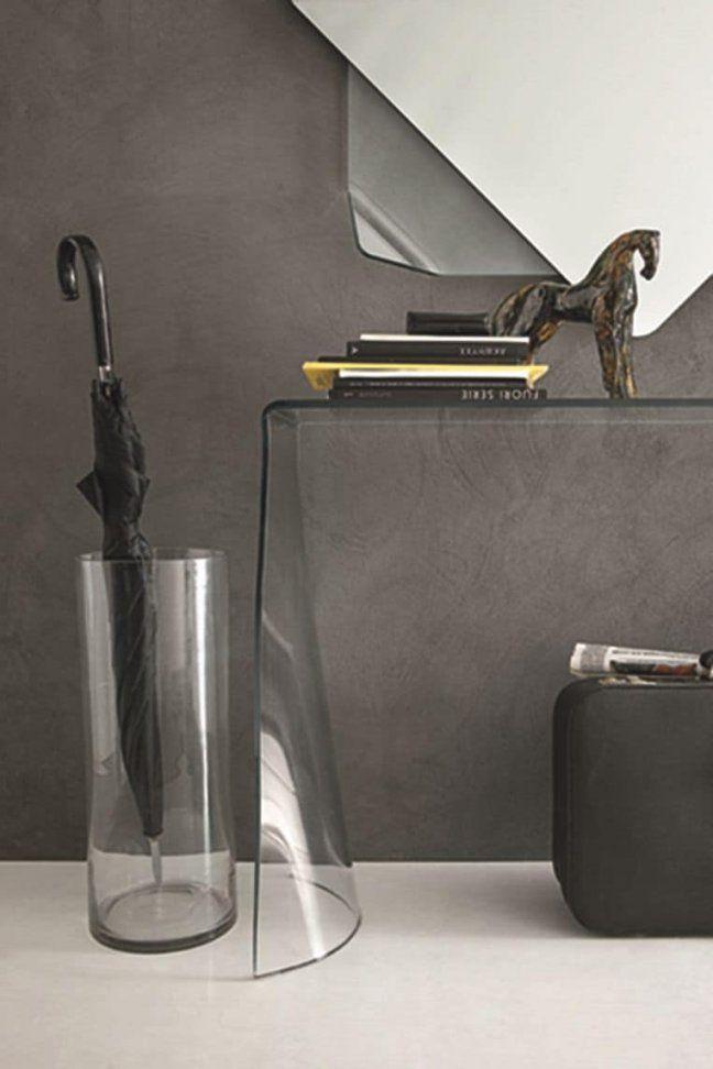 Gebogenes Glas Konsole Und Spiegel Für Moderne Umgebungen Geeignet von Spiegel Mit Konsole Modern Photo
