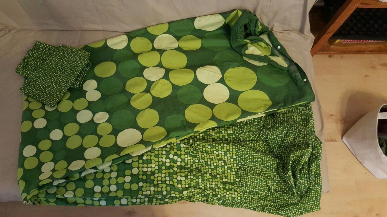Gebraucht Bettwäsche Ikea Grün Punkte 220 X 240 In 6108 Scharnitz Um von Ikea Bettwäsche Grün Bild
