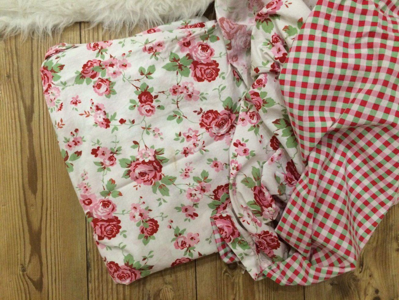 Gebraucht Bettwäsche Ikea Rosali Blumen Rosa Karriert🌸 In 04862 von Ikea Bettwäsche Rosali Bild