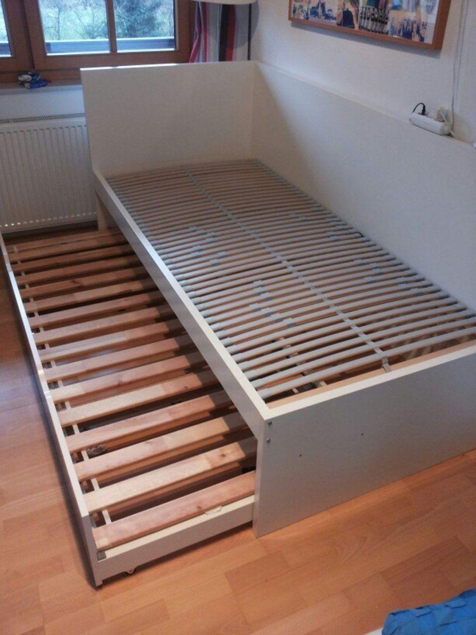 Gebraucht Flaxa Bett Mit Unterbett Von Ikea In 4300 Sankt Valentin von Ikea Einzelbett Mit Unterbett Bild
