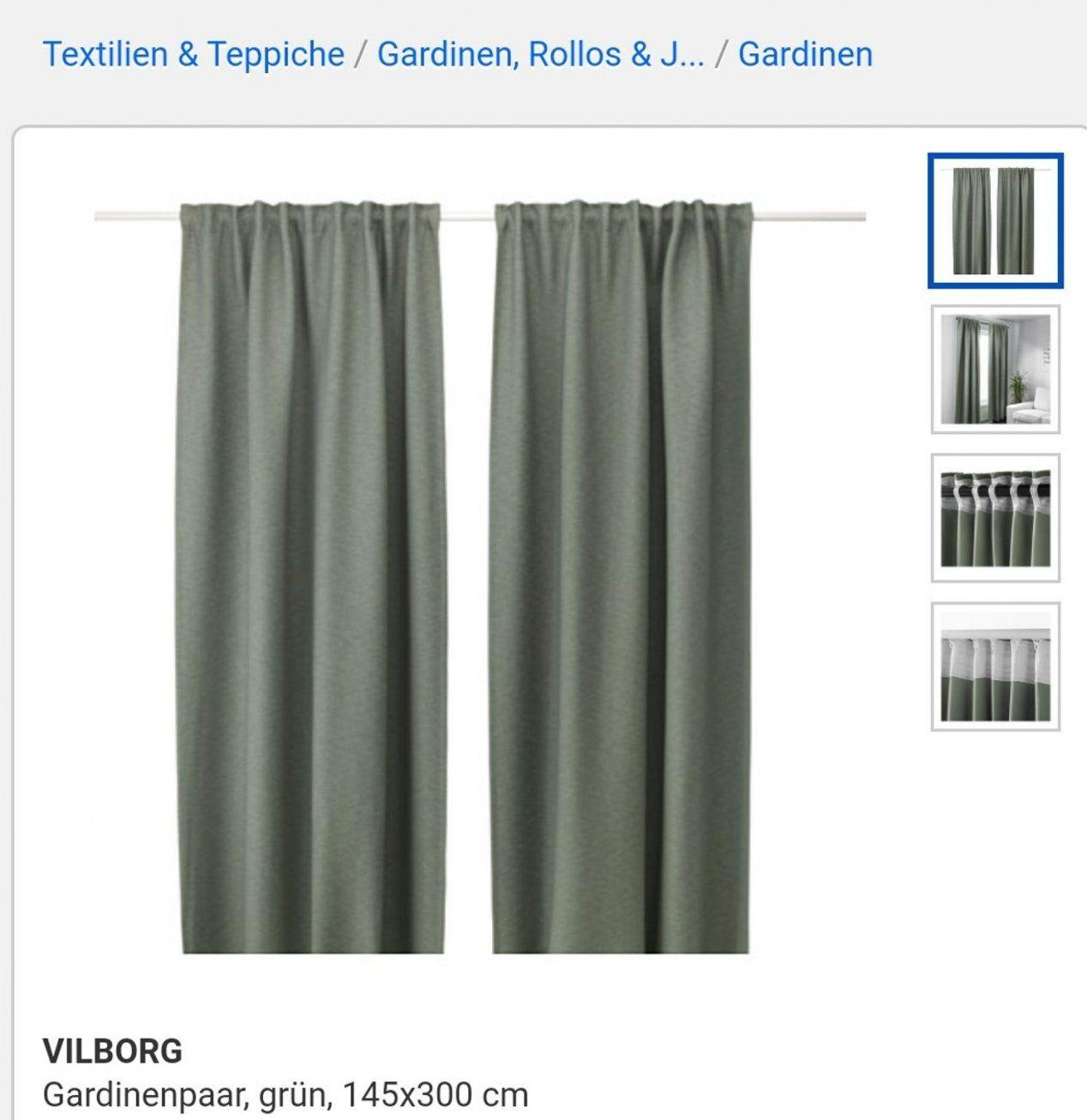 Gebraucht Ikea Vilborg Vorhang Grün In 1220 Wien Um € 3900 – Shpock von Ikea Gardinen Grün Photo