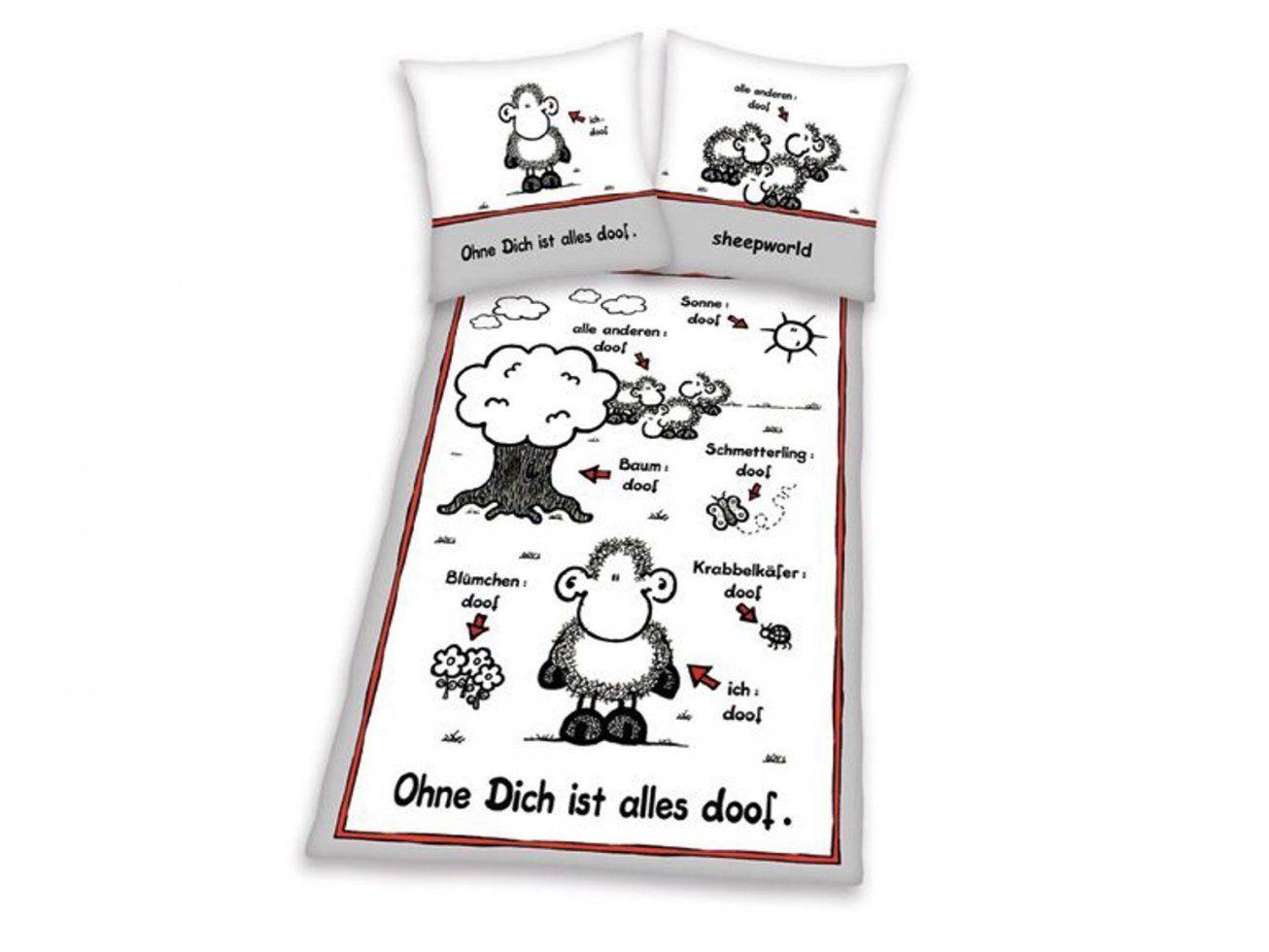 Gebraucht Sheepworldbettwäsche In 70567 Stuttgart Um € 1200 – Shpock von Bettwäsche Ohne Dich Ist Alles Doof Bild