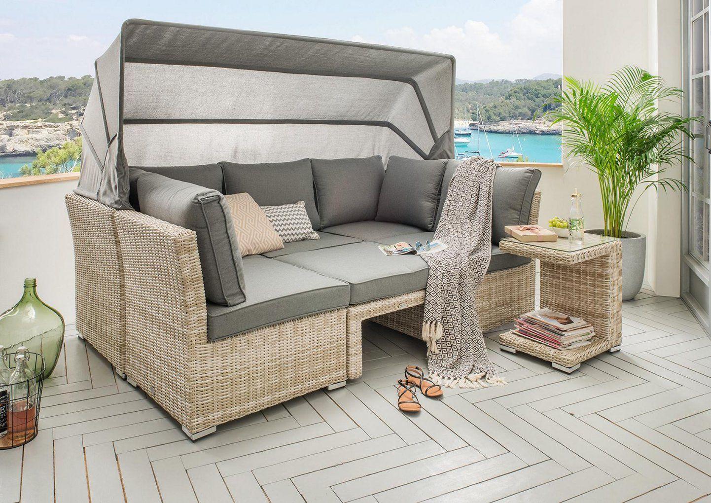 Geflechtmöbel Für Garten & Zuhause  Hochwertige Gartenmöbel von Lounge Sofa Mit Dach Photo
