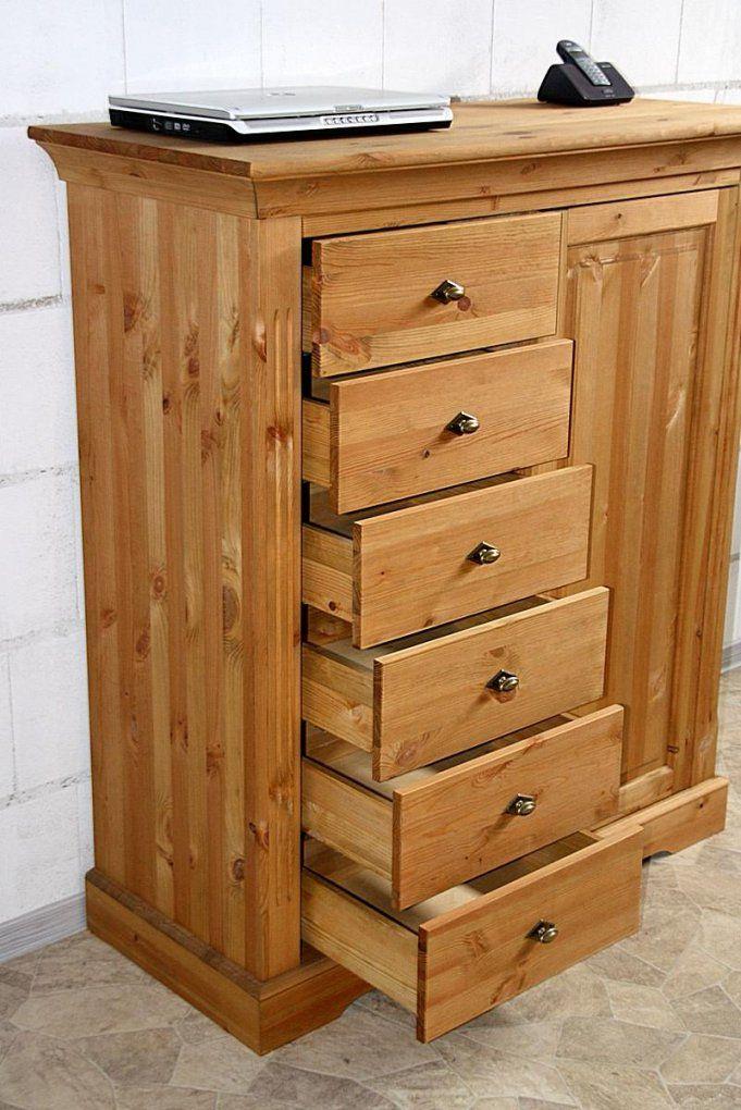Gelaugt Nachttisch Nachtschrank Nachtkommode Klein Holz Kiefer von Kiefermöbel Gelaugt Und Geölt Photo