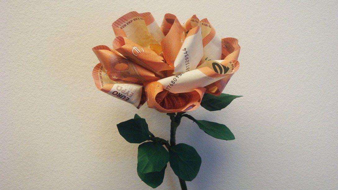 Geld Falten ❁ Geldgeschenk Basteln ❁ Deko Ideen Mit Florashop von Blumen Basteln Aus Geld Photo