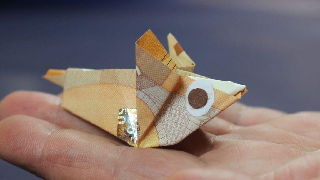 Geld Falten Geldscheine Falten Maus Geldgeschenk Basteln