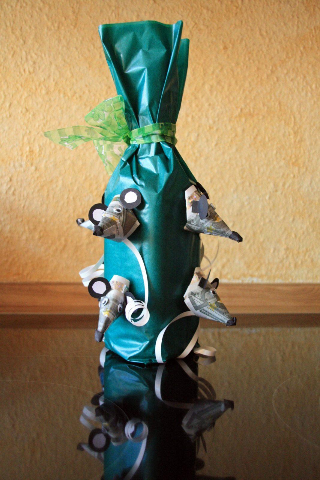 Geldgeschenke Zum Geburtstag – Flaschen Geschenk Zur Video von Maus Aus Geldschein Falten Photo
