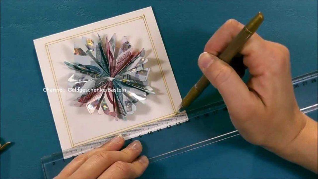 Geldscheine Falten Blume Zb Weihnachten Hochzeit Geburtstag von Blumen Basteln Aus Geld Bild