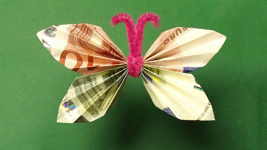 Geldscheine Falten Geldgeschenke Schmetterling Youtube Von