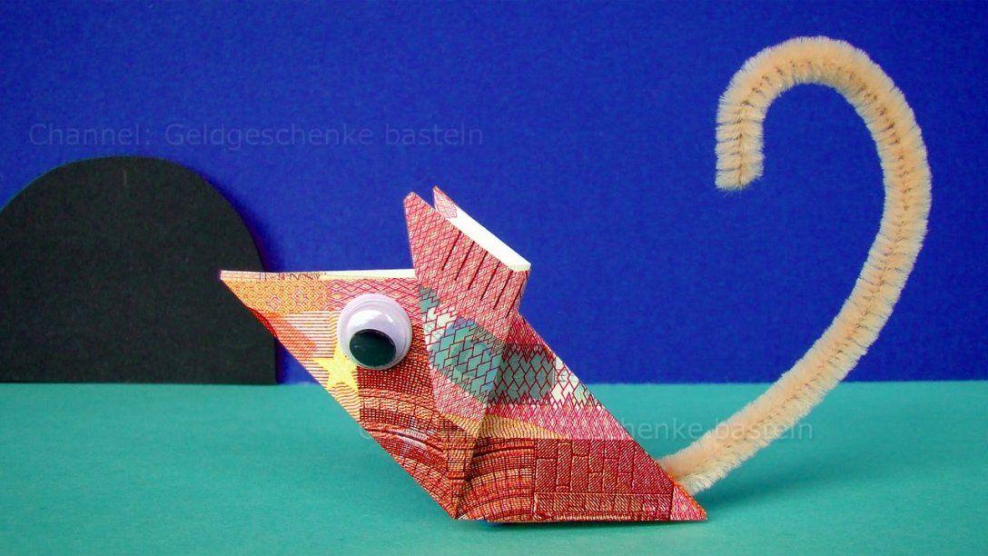 Geldscheine Falten Maus Geld Falten Zum Lustige Geldgeschenke von Maus Aus Geldschein Falten Photo
