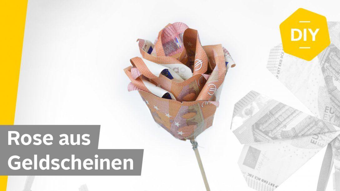 Geldscheine Falten Rose  Für Kreative Geldgeschenke  Roombeez von Origami Rose Geldschein Anleitung Photo