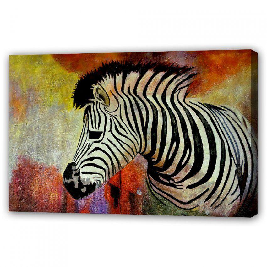 Gemälde Von Canvasbutik  Kunst  Foto Auf Leinwand  Kunstdruck von Zebra Bilder Auf Leinwand Photo