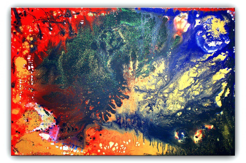 Gemalte Bilder Auf Leinwand Abstrakt Abstrakte Malerei Rot Gelb Blau von Gemalte Bilder Auf Leinwand Abstrakt Bild