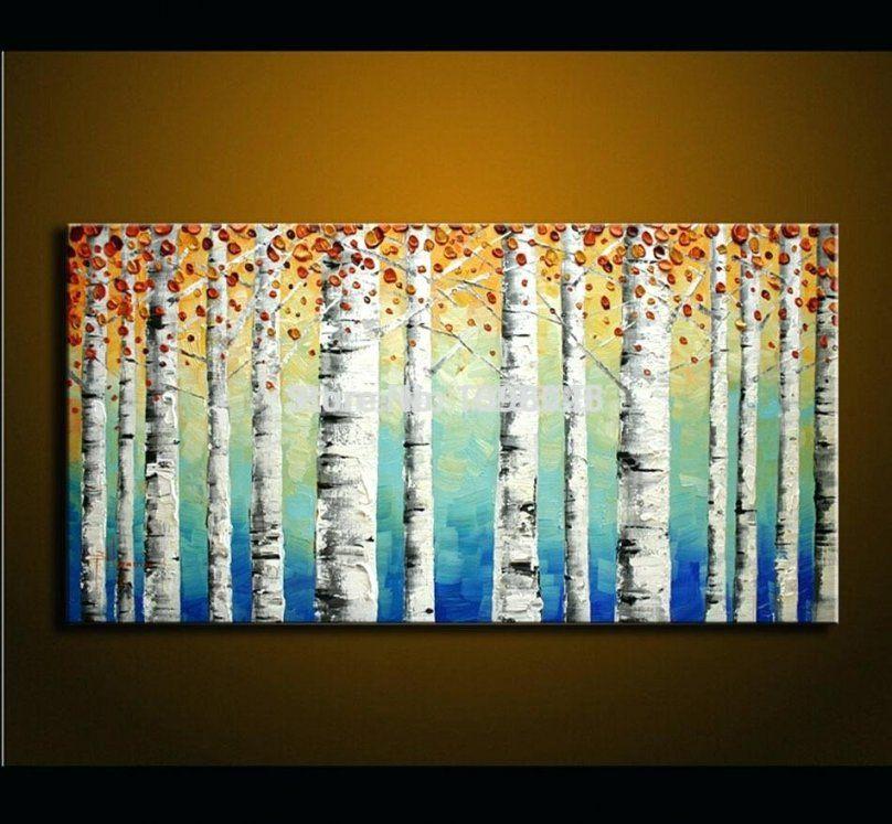 Gemalte Bilder Auf Leinwand Rote Wandkunst Dekoration Abstrakten von Gemalte Bilder Auf Leinwand Abstrakt Photo