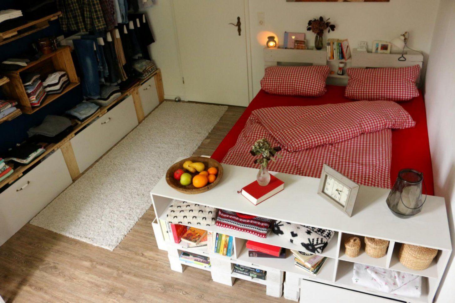 Genial Bett Aus Paletten Bett Selber Bauen Kreativ Diy Bett Paletten von Podest Bett Aus Paletten Bild
