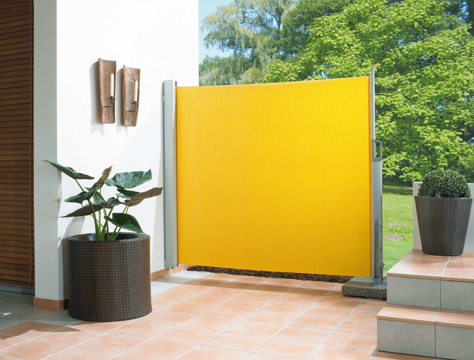 Genial Ehrfurchtige Sonnenschutz Terrasse Seitlich Zum Sichtschutz Von Ohne Bohren Photo