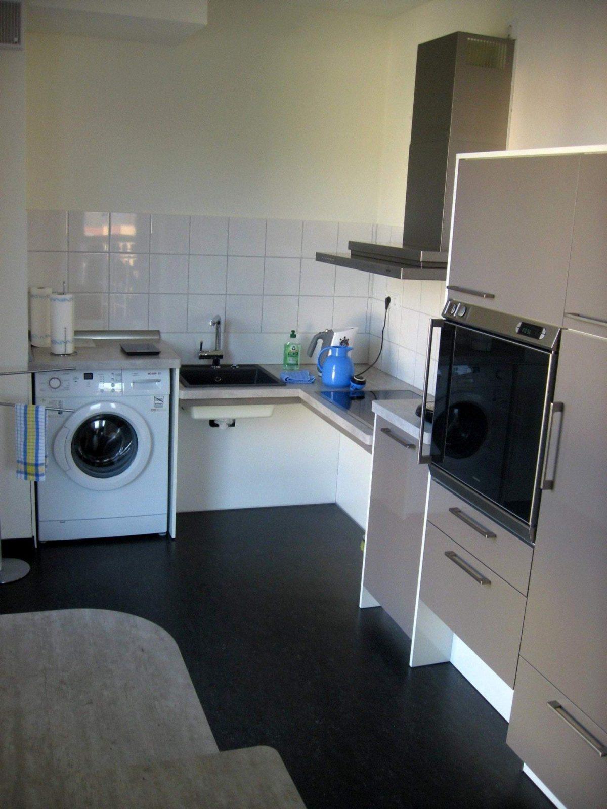 Genial Waschmaschine Küche  Haus Dekoration von Waschmaschine In Küche Verstecken Bild