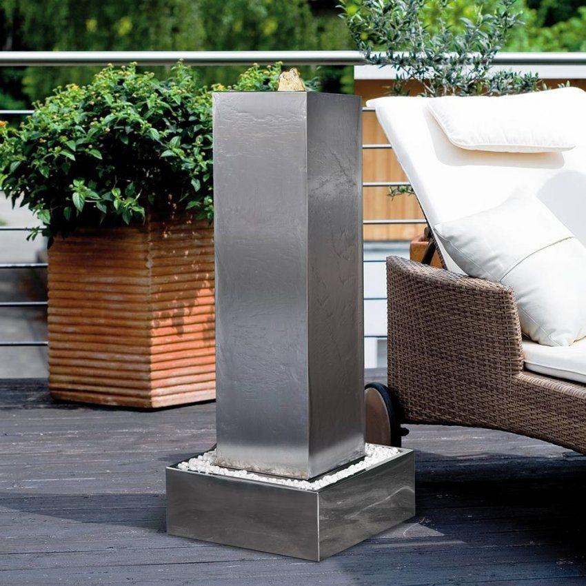 gartenbrunnen edelstahl mit beleuchtung haus design ideen. Black Bedroom Furniture Sets. Home Design Ideas