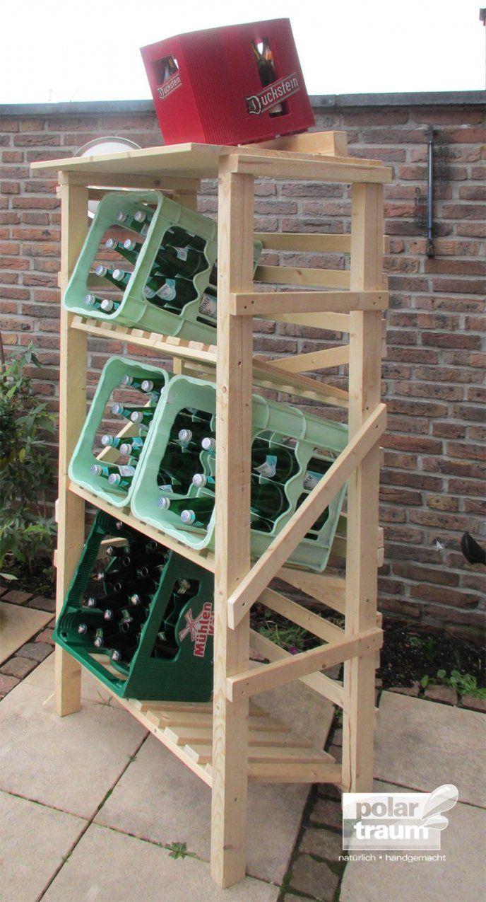 Getränkekistenregal Aus Fichtenholz Für 6 Kisten  Polartraum von Regal Abstellraum Selber Bauen Bild