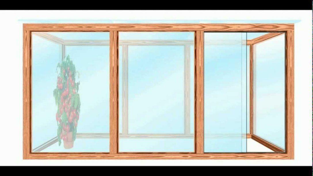 Gewächshaus Selber Bauen  Youtube von Fenster Plexiglas Selber Bauen Bild