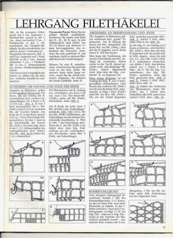 Ghasals Kreativblog Filethäkeln Muster Vorlagen Scheme Von