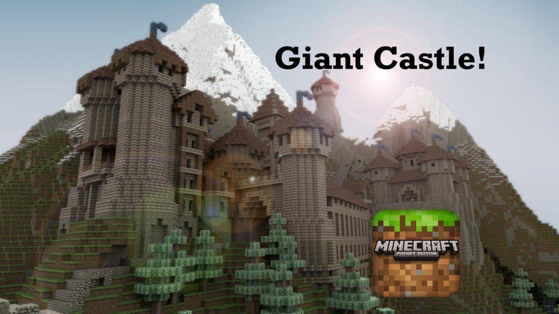 Giant Castle In Minecraft Pocket Edition  Youtube von Minecraft Seeds Ps4 Castle Photo