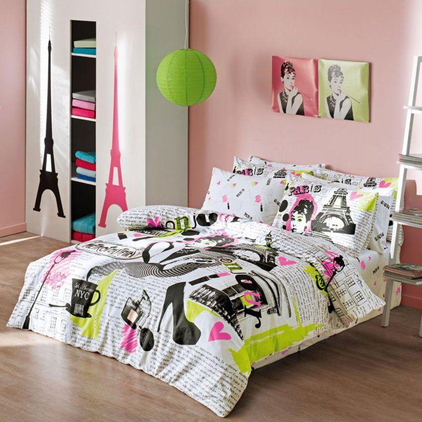 Girls Comforter Set With Modern Paris Themed Bedding  Bedroom von Girls Paris Themed Bedding Photo