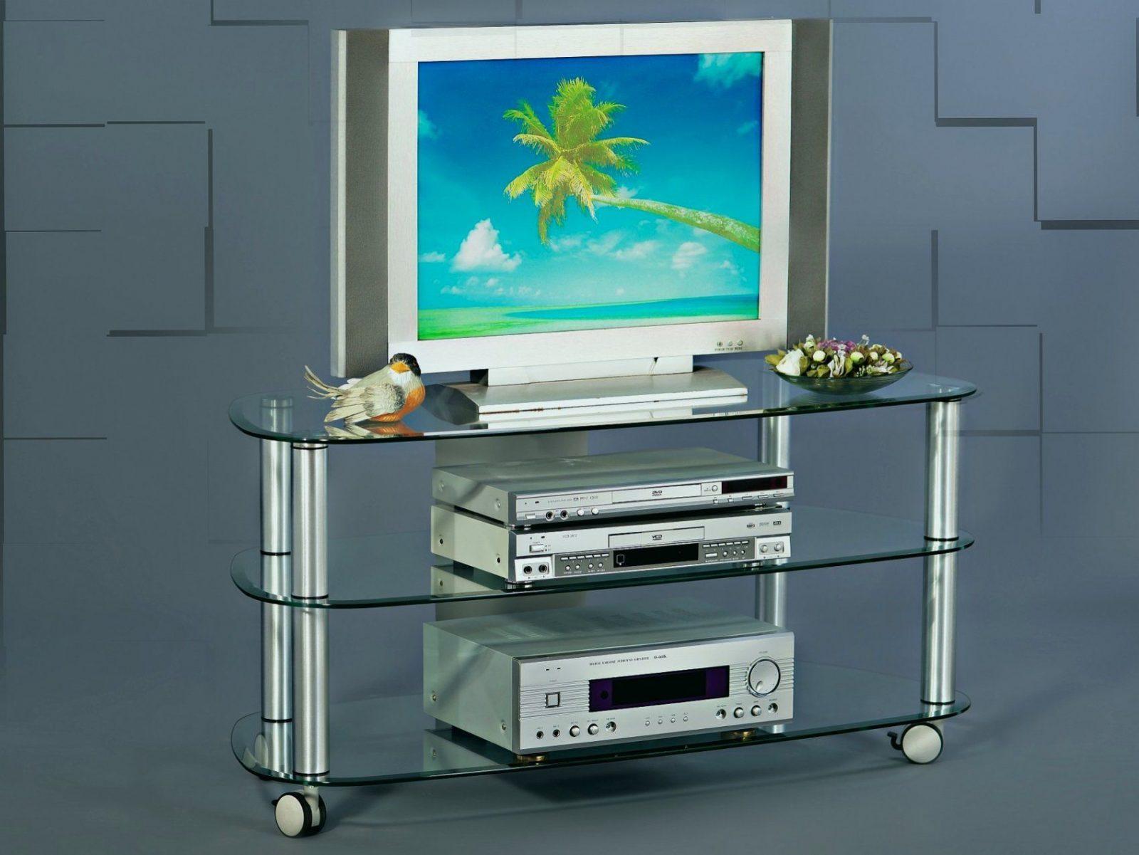 Glas Tv Tisch Ideen Tv Rack Messing Tv Tisch Klarglas Günstig Kaufen von Tv Tisch Glas Mit Rollen Photo