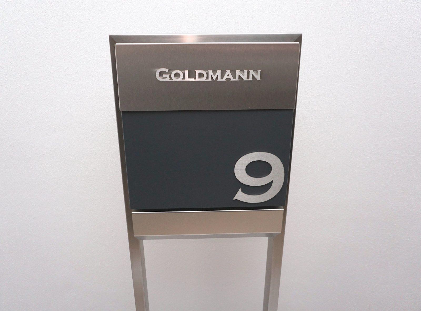Glasdach Vordach Edelstahl Standbriefkasten Briefkasten Freistehend von Standbriefkasten Edelstahl Mit Hausnummer Bild