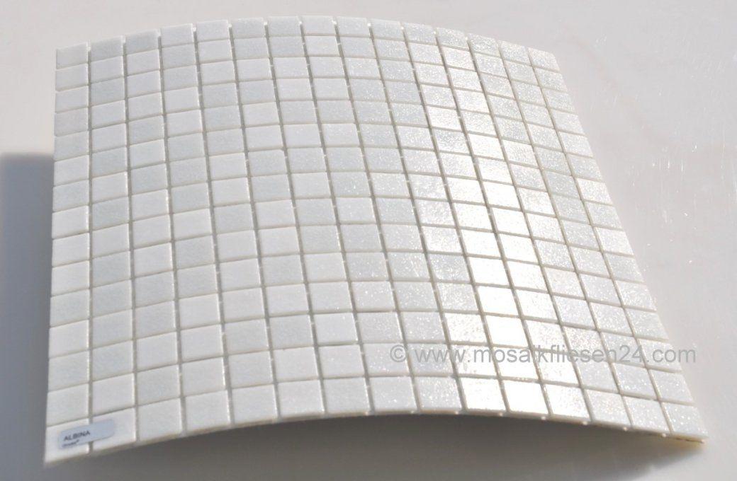Glasmosaik Elements Albina Weiss Mix  Onlineshop Mosaikfliesen24 von Mosaik Fliesen Schwarz Weiß Grau Bild