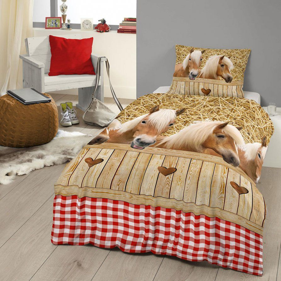 Good Morning Bettwäsche Pferde Günstig Online Kaufen Bei Bettwaren Shop von Kinderbettwäsche Mit Pferden Photo