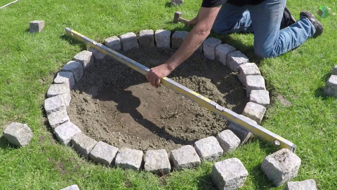 Granit Feuerstelle Selber Bauen  Einfach Und Schnell Diy  Youtube von Garten Feuerstelle Selber Bauen Photo