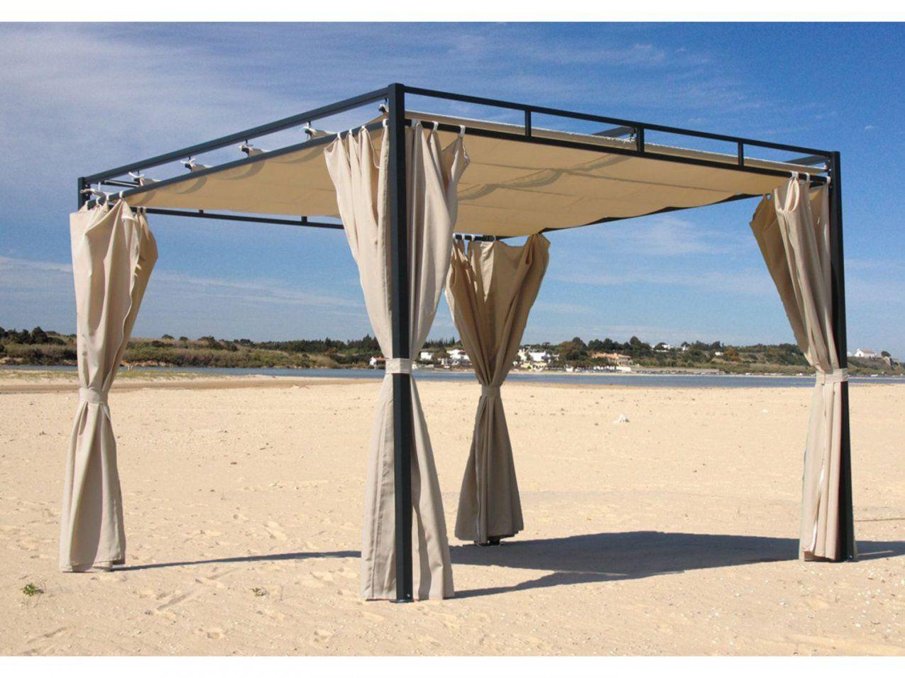 Grasekamp Flachdachpergola Firenze 3X3 Meter Sand Mit 4 Seitenteile von Flachdachpergola 3 X 4 Bild