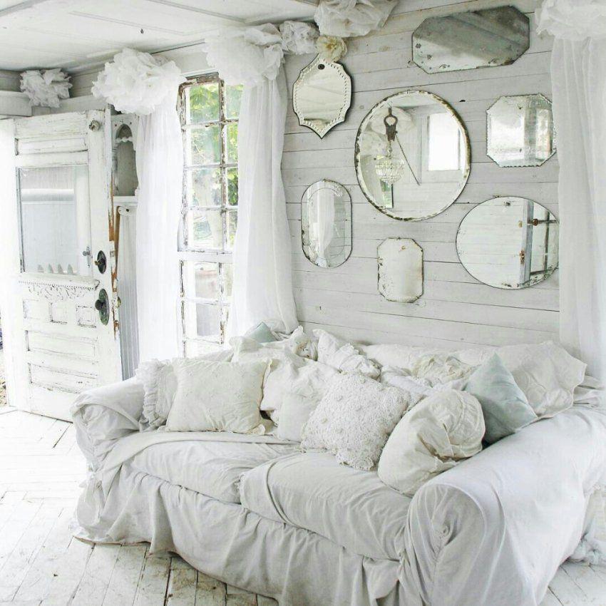 Great Look With The Mirrors Surrounded Shab Chic Weiss Innen Bett von Bett Shabby Chic Weiß Photo