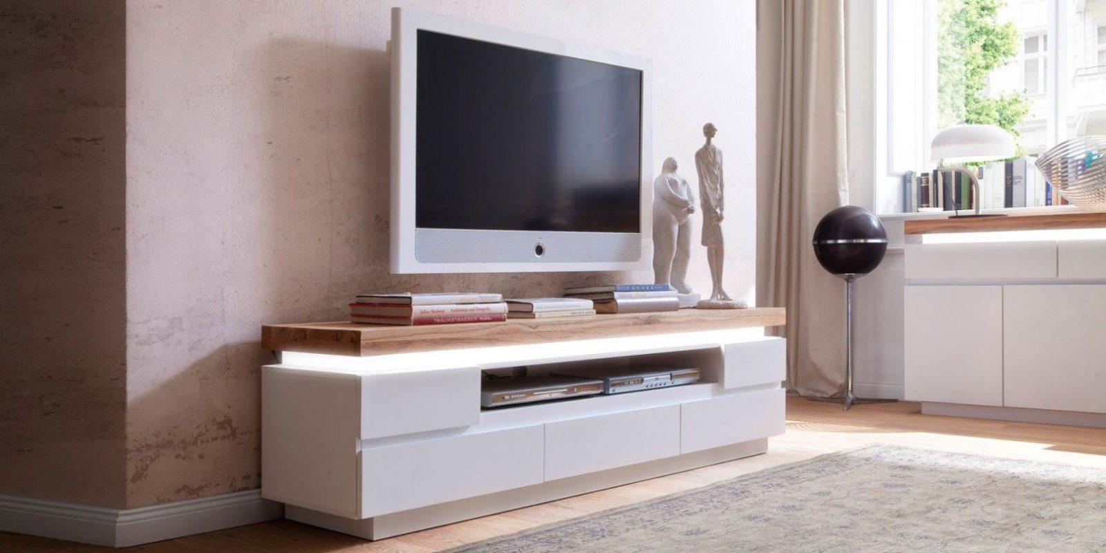 Groß Fernseh Schrank Schön Tv Lowboard Holz Hängend Möbel Design Zum von Tv Lowboard Weiß Hängend Photo